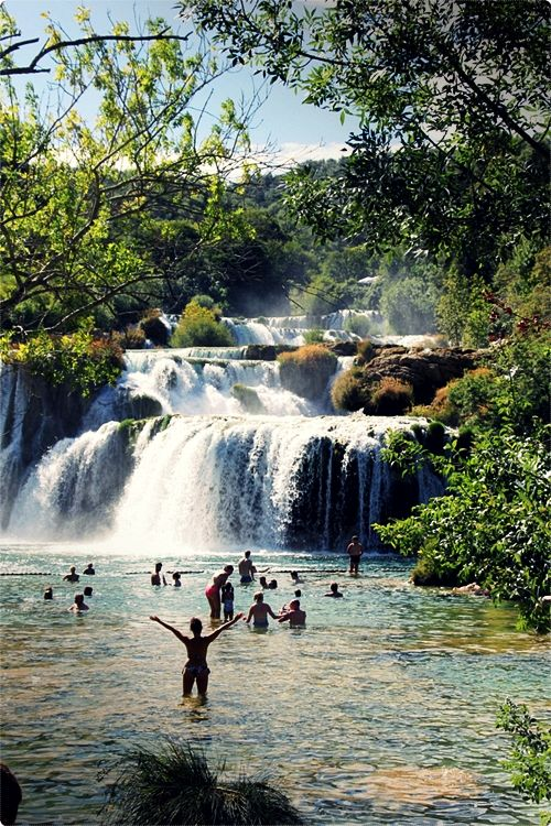 Krka National Park. The area is beautiful, walking paths easy to navigate, and you can actually swim in the lakes. Additionally, its central location in the heart of Dalmatia makes Krka national park one of the most visited Croatian national parks.