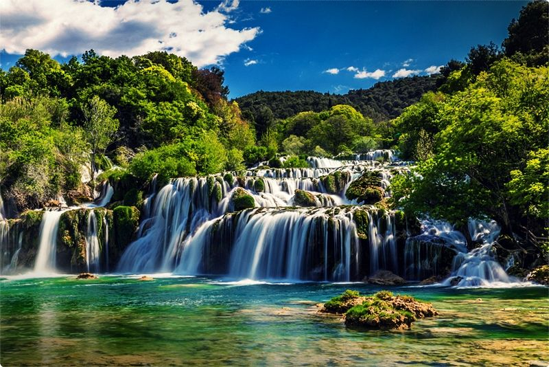 Located close to Sibenik, the Krka National Park, is like a smaller version of Plitvice.